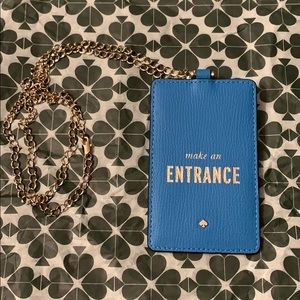 Kate Spade ID holder necklace